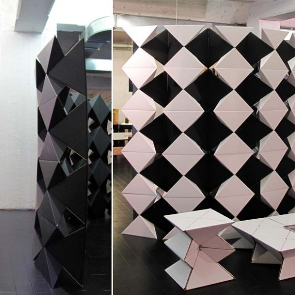 PYRAGO Cardboard Modular System @ Superstudio Piu' - Temporary Museum for New Design 2012 (April. 2012)