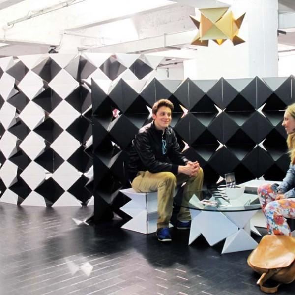 PYRAGO Cardboard Modular System @ Superstudio Piu' - Temporary Museum for New Design 2012 (April. 2012)